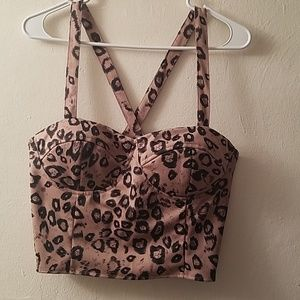 Leopard print Crop top